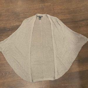Club Monaco Grey Crochet Cardigan Shawl